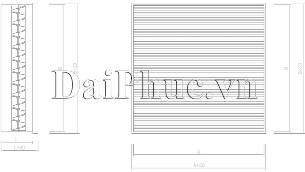 Bản vẽ kỹ thuật của sản phẩm Van cửa gió: VCD