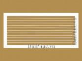 Cửa gió 1 lớp nan bầu dục (H-SAG) Horizontally Single Air grille