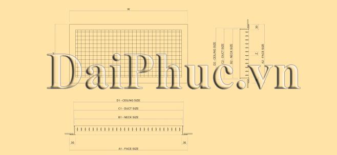 Bản vẽ kỹ thuật của sản phẩm: Cửa hai lớp nan bầu dục DDG